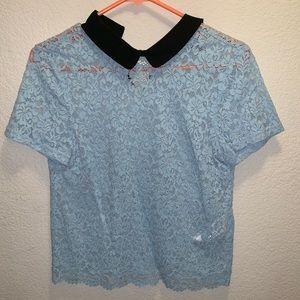 Zara lace short sleeve top